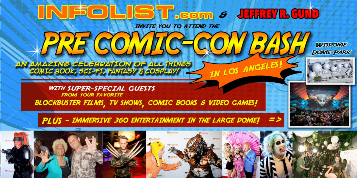 PRE COMIC-CON BASH in Los Angeles: Featuring Producers